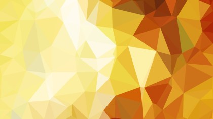 Orange and Yellow Polygonal Triangle Background Vector
