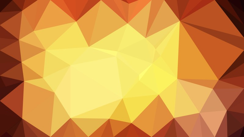 Abstract Orange and Yellow Triangle Geometric Background Vector