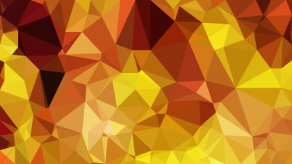 Abstract Orange and Yellow Polygon Triangle Background