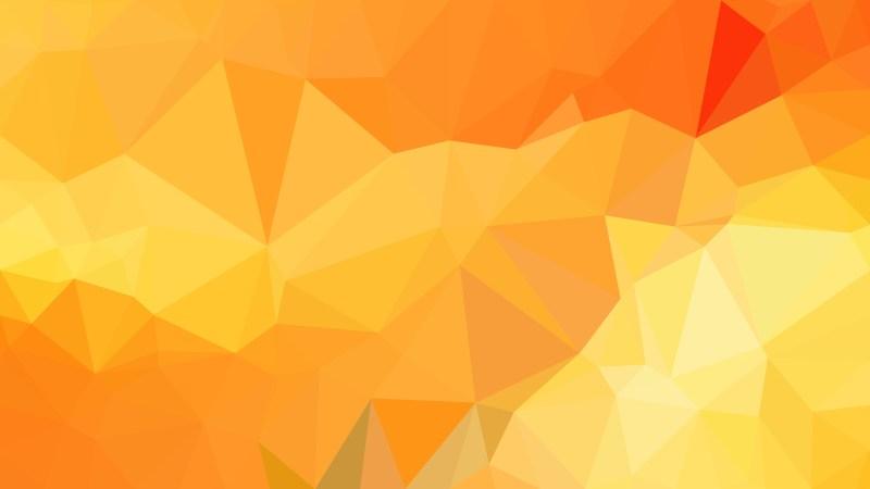 Orange and Yellow Polygon Background Design