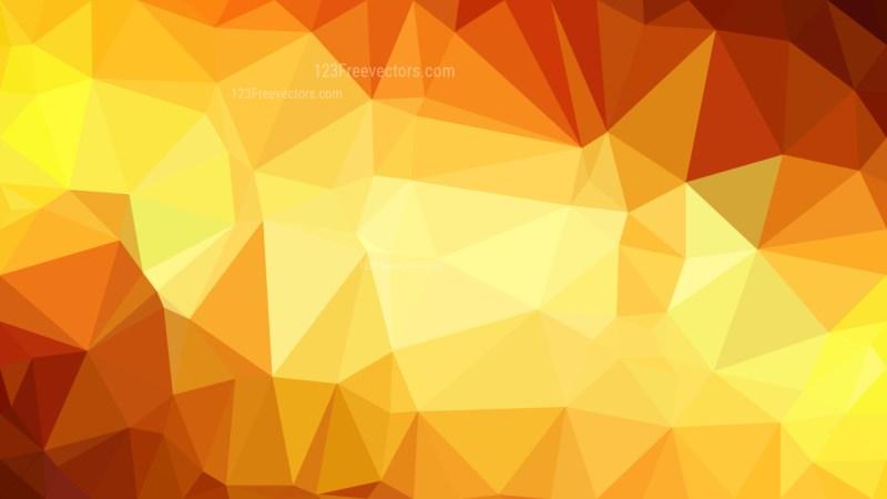 Orange and Yellow Polygon Triangle Background