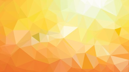 Orange and Yellow Low Poly Background Template Vector Graphic