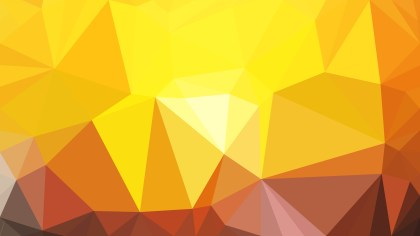 Abstract Orange and Yellow Low Poly Background