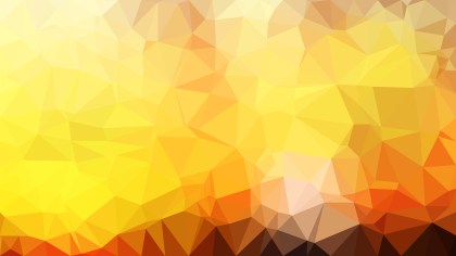 Abstract Orange and Yellow Low Poly Background Illustration