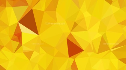 Abstract Orange and Yellow Polygonal Background Template Vector Graphic