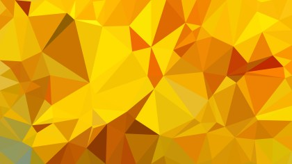 Abstract Orange and Yellow Polygonal Background Vector Image