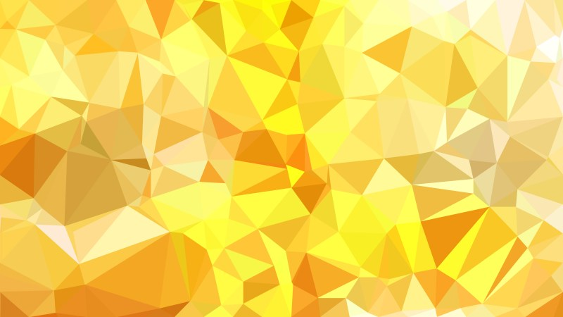 Orange and Yellow Low Poly Background Design