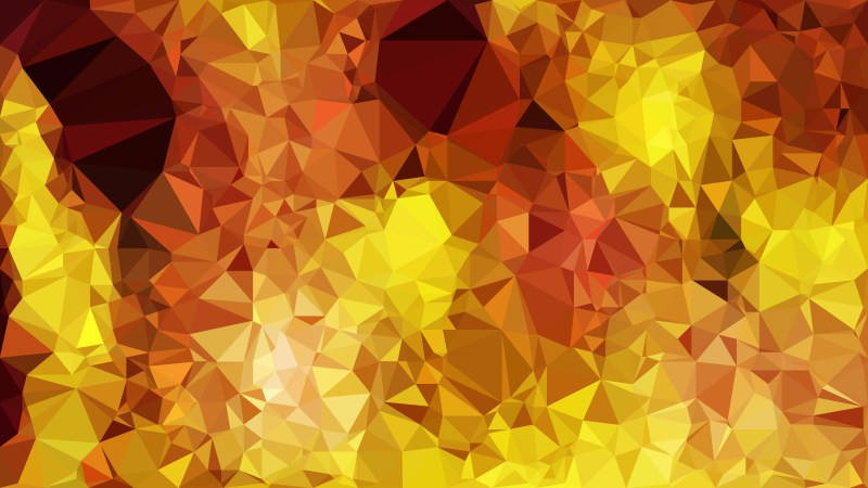 Orange and Yellow Polygonal Background