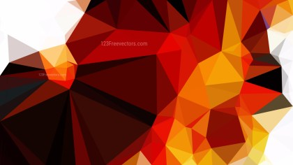 Orange Black and White Low Poly Abstract Background Design Vector