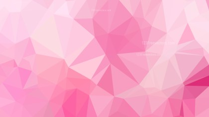 Abstract Pastel Pink Polygon Background Template Design