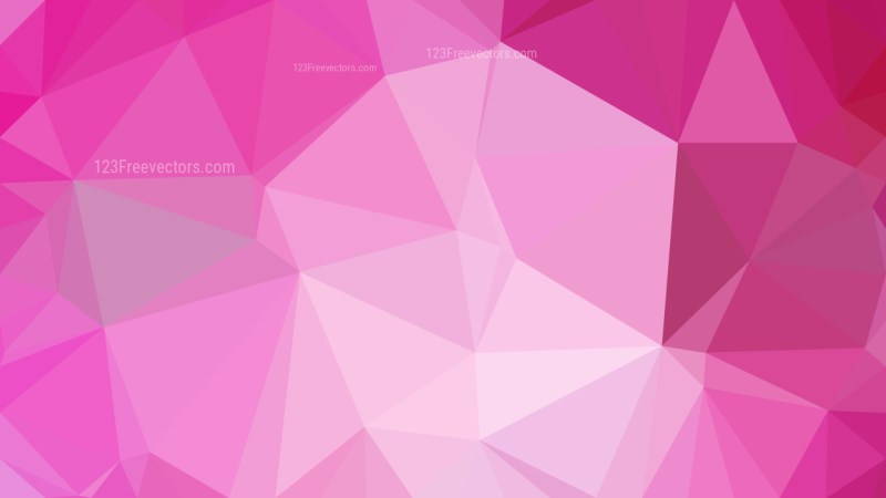 Pink Polygon Triangle Background Vector Illustration