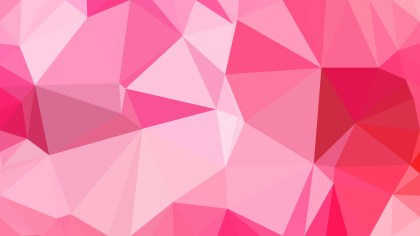 Abstract Pink Low Poly Background Template Design