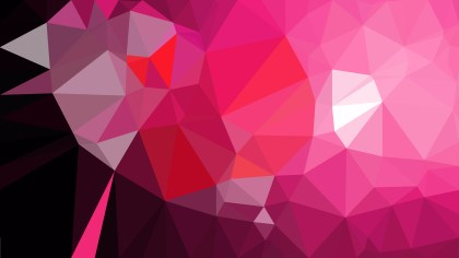 Abstract Pink and Black Polygonal Triangle Background Vector