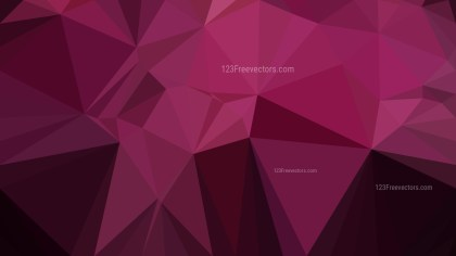 Abstract Pink and Black Low Poly Background Design