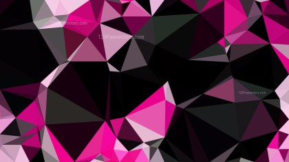 Abstract Pink and Black Polygonal Background Design