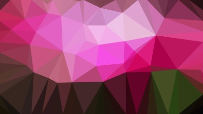 Abstract Pink and Black Polygonal Background Template