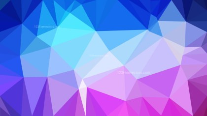 Pink and Blue Low Poly Abstract Background Design