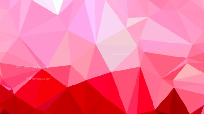 Pink and Red Polygonal Abstract Background Design Vector Illustration