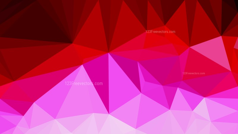 Pink and Red Polygon Pattern Abstract Background