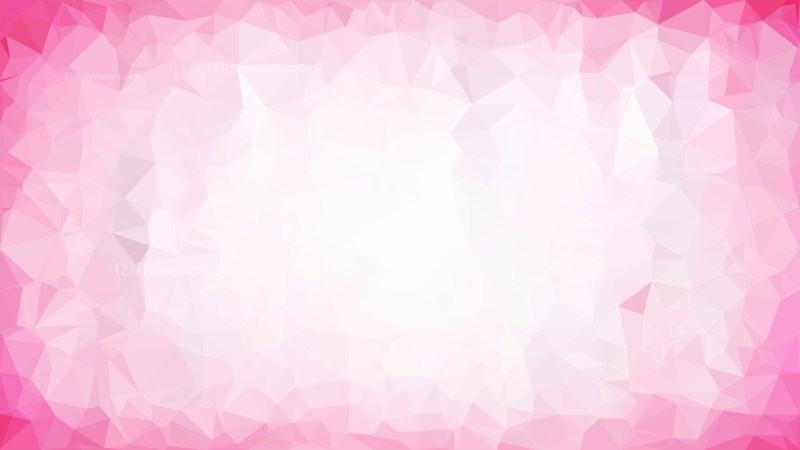 Abstract Pink and White Polygon Background Graphic