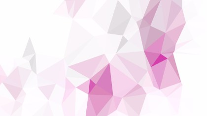 Pink and White Low Poly Abstract Background