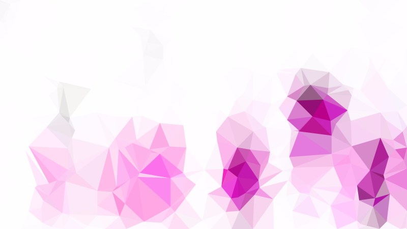Pink and White Polygonal Abstract Background