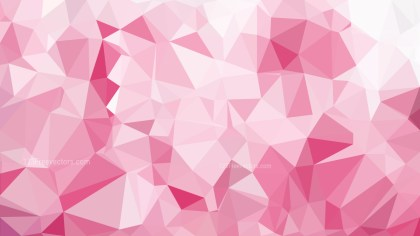 Pink and White Geometric Polygon Background Vector