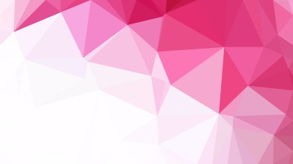 Pink and White Polygon Triangle Pattern Background Vector Art