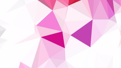 Pink and White Polygon Background Template