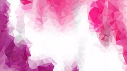 Pink and White Polygonal Background Template