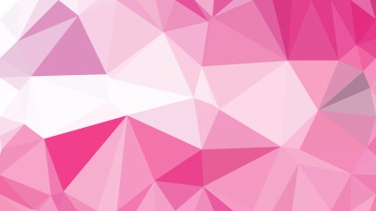 Pink and White Polygon Triangle Background