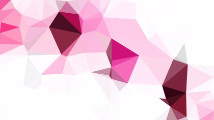 Pink and White Polygonal Triangle Background