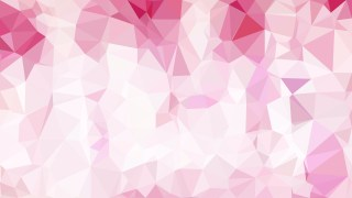Pink and White Polygonal Triangular Background