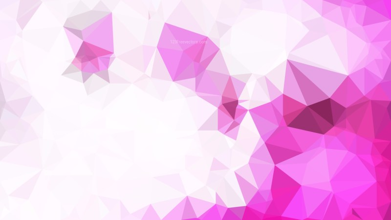 Abstract Pink and White Low Poly Background Template