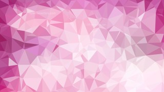 Abstract Pink and White Polygonal Triangular Background