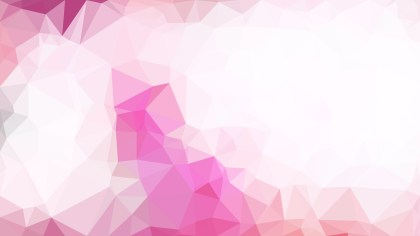 Pink and White Low Poly Background Image
