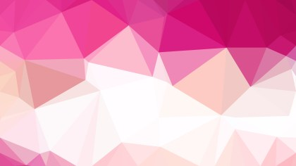 Pink and White Polygonal Background Vector Image
