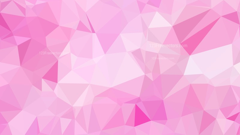 Pink and White Polygonal Triangle Background Vector
