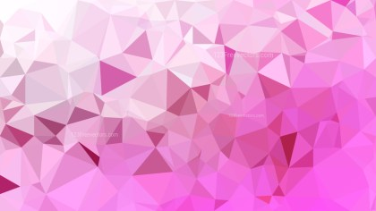 Pink and White Polygonal Triangular Background Vector Art
