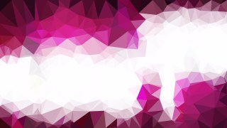 Pink and White Low Poly Abstract Background Design