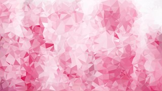 Pink and White Polygonal Abstract Background Design