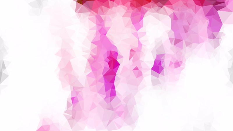 Pink and White Polygon Background Design Vector