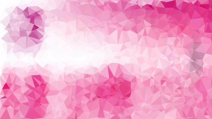 Pink and White Low Poly Background Design Graphic