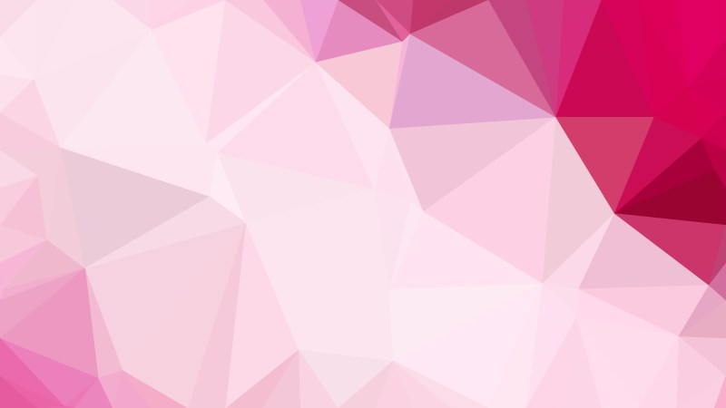 Abstract Pink and White Polygonal Background