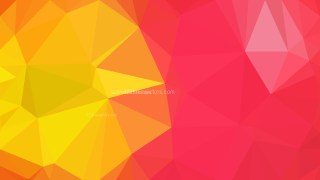 Pink and Yellow Polygonal Abstract Background Design