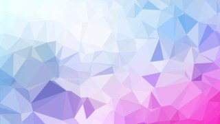Pink Blue and White Polygonal Abstract Background Design