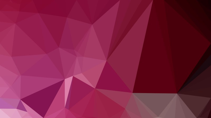 Pink Red and Black Low Poly Background Design Vector