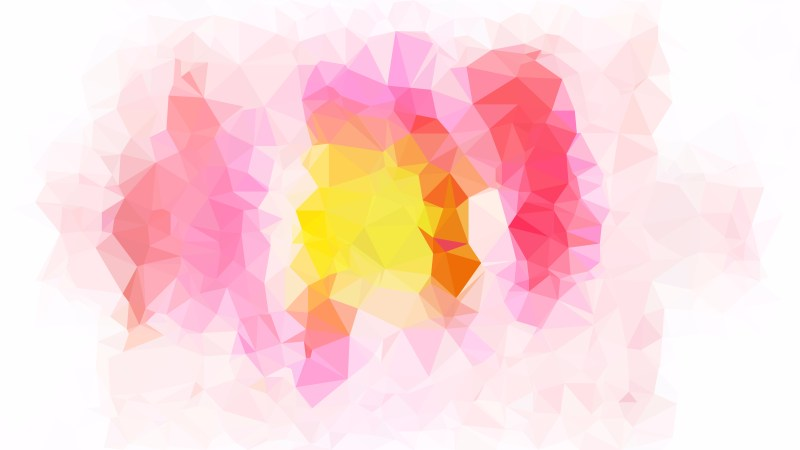 Pink Yellow and White Low Poly Background Template
