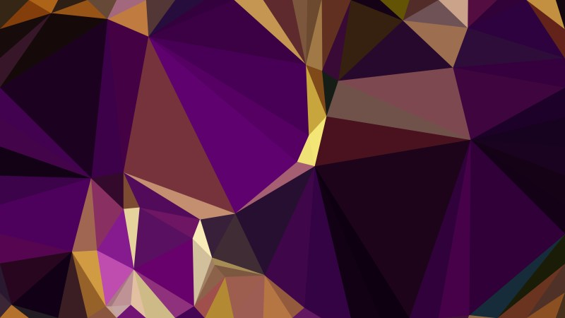 Purple and Gold Polygon Background Vector