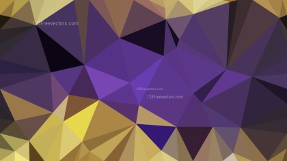 Purple and Gold Polygon Pattern Background Vector Art